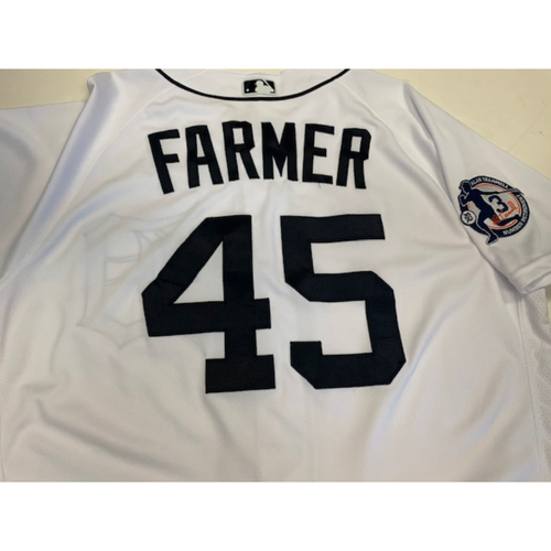Game-Used Alan Trammell's Number Retirement Jersey: Buck Farmer