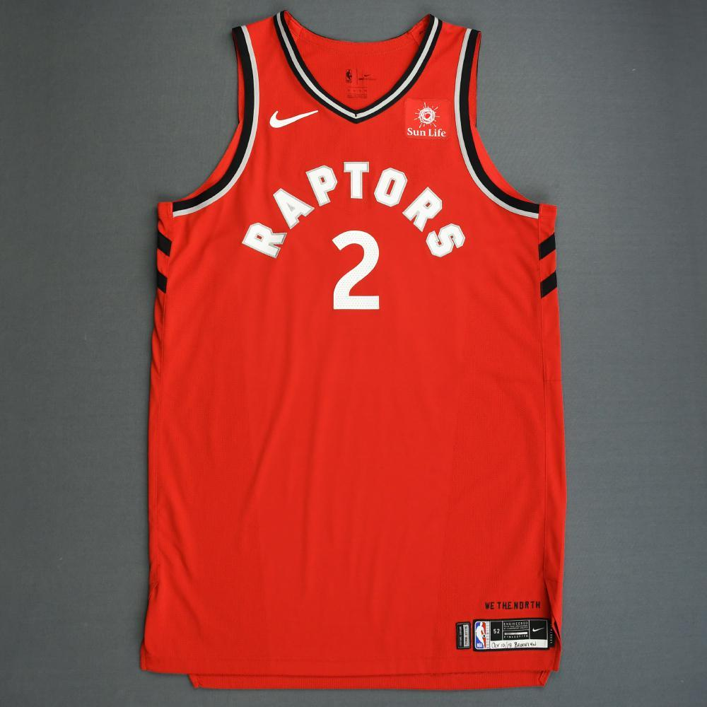 Kawhi Leonard - Toronto Raptors - 2018-19 Season - Canada Series - Game-Worn Red Icon Edition Jersey