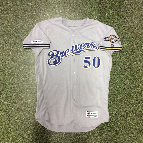 Jacob Barnes 2019 Game-Used Road Grey Jersey