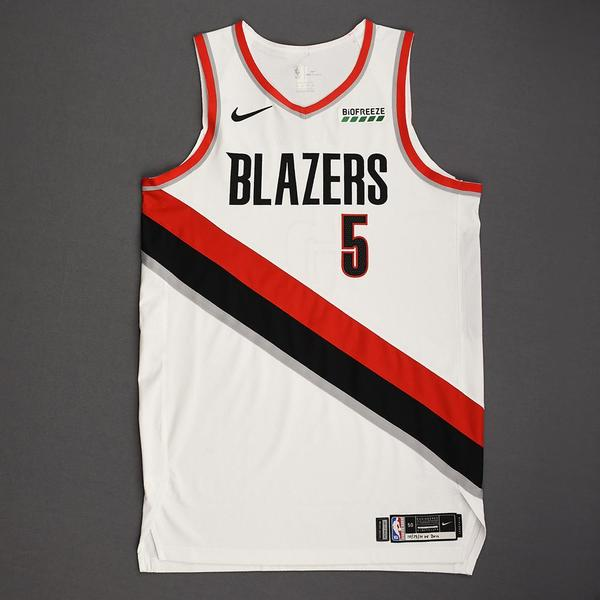 Image of Rodney Hood - Portland Trail Blazers - Kia NBA Tip-Off 2019 - Game-Worn Association Edition Jersey