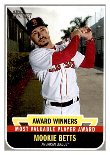 Photo of 2019 Topps Heritage Award Winners #AW1 Mookie Betts