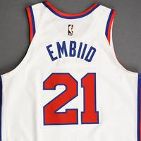 Joel Embiid - Philadelphia 76ers - Game-Worn 1st Half Classic Edition 1970-71 Home Jersey - Double-Double - 2019-20 Season