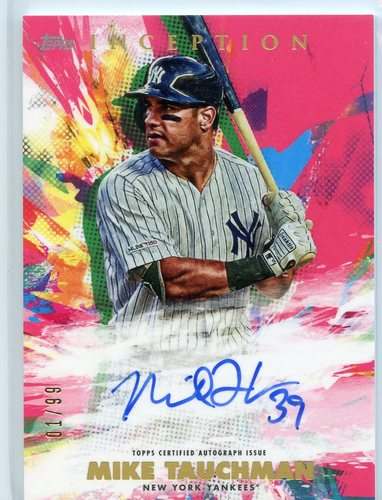 Photo of 2020 Topps Inception Rookie and Emerging Stars Autographs Magenta #RESAMTA Mike Tauchman
