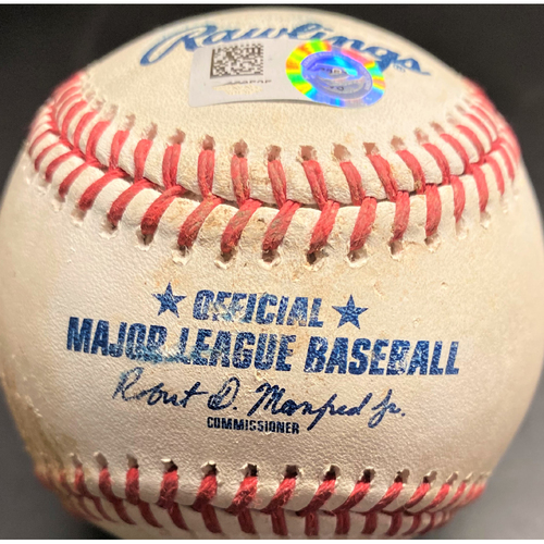 Photo of Game-Used Baseball: Tarik Skubal Detroit Tigers Pitch Career Win #1 (MLB AUTHENTICATED)