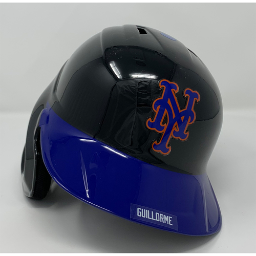 Photo of Luis Guillorme #13 - Game Used Batting Helmet with American Flag Decal - 20th Anniversary Ceremony of 9/11/2001 - Mets vs. Yankees - 9/11/21