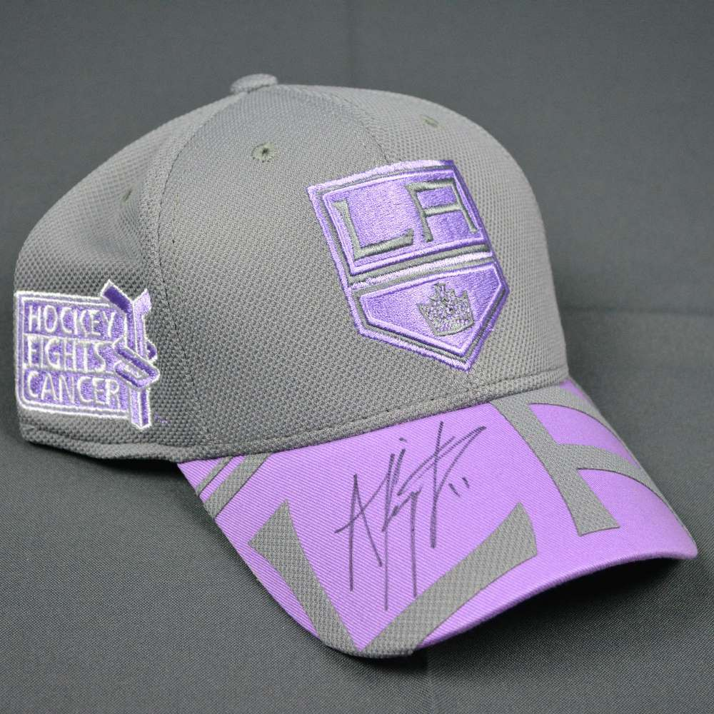 100% authentic 4f16f 1ca6f Anze Kopitar - Los Angeles Kings - NHL Player Media Tour - Hockey Fights  Cancer Worn and Autographed Cap