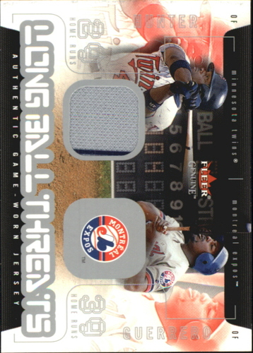 Photo of 2003 Fleer Genuine Longball Threats Single Swatch #5A T.Hunter Jsy-Guerrero