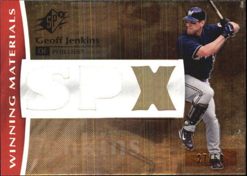 Photo of 2008 SPx Winning Materials SPx 150 #GJ Geoff Jenkins