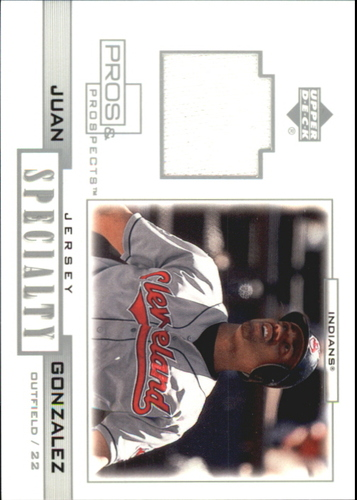 Photo of 2001 Upper Deck Pros and Prospects Specialty Game Jersey #SJG Juan Gonzalez