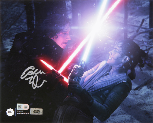 Adam Driver as Kylo Ren Autographed in Silver Ink 8x10 Photo