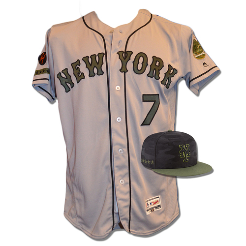 size 40 d15d3 f8cdf MLB Auctions | Jose Reyes #7 - Game Used Road Grey Memorial ...
