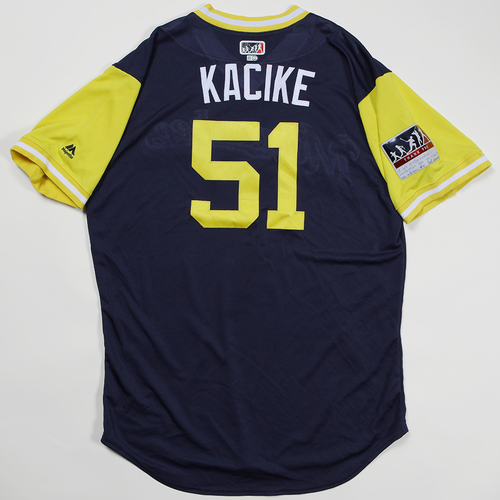 "Photo of Freddy ""Kacike"" Peralta Milwaukee Brewers Game-Used Jersey 2018 Players' Weekend Jersey"