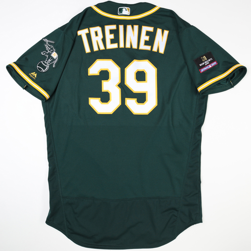 2019 Japan Opening Day Series - Game Used Jersey - Blake Treinen, Oakland Athletics at Nippon Ham Fighters -3/17/2019