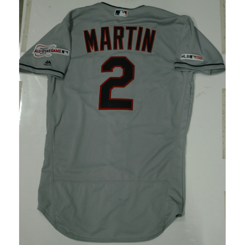 Photo of Leonys Martin 2019 Team Issued Road Jersey