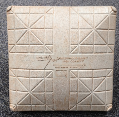 Photo of Authenticated Game Used Base - 1st Base for Innings 7 to 9 (Apr 28, 18 vs TEX). 1st Career MLB HR for Lourdes Gurriel Jr.