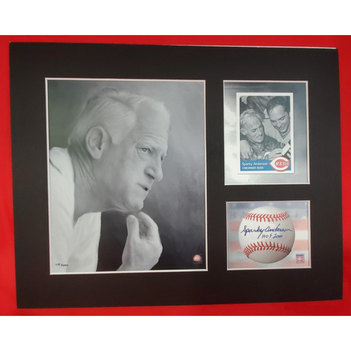 Photo of Matted Sparky Anderson Portrait 3 Opening - 11x14
