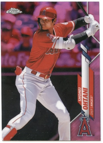 Photo of 2020 Topps Chrome Pink Refractors #21 Shohei Ohtani