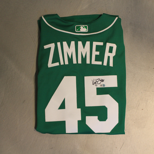 Photo of Autographed 2020 St. Patrick's Day Jersey: Kyle Zimmer #45 (Size 48)