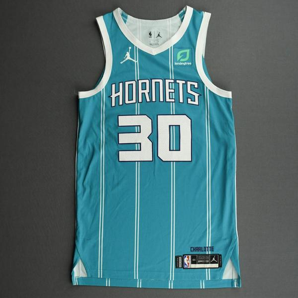 Image of Nate Darling - Charlotte Hornets - Game-Issued Icon Edition Jersey
