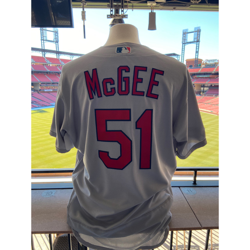 Photo of Cardinals Authentics: Team Issued Willie McGee Road Grey Jersey