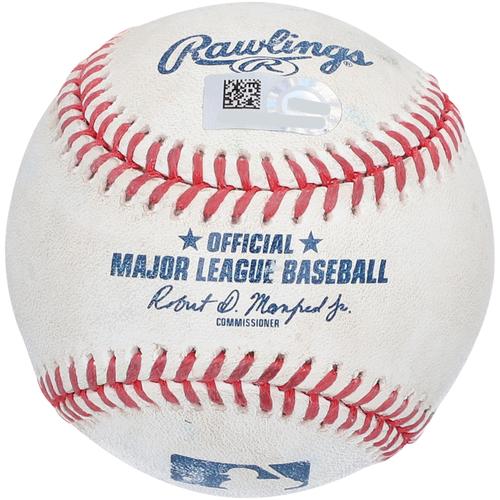 Photo of Clint Frazier New York Yankees Game-Used Baseball vs. Toronto Blue Jays on April 1, 2021 - Single