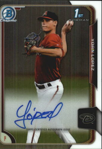 Photo of 2015 Bowman Chrome Prospect Autographs #BCAPYL Yoan Lopez