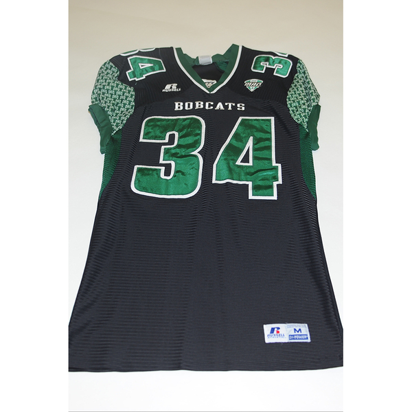 Photo of # 34 - Official OHIO BOBCATS Game Worn Football Jersey (2011) - SIZE MEDIUM