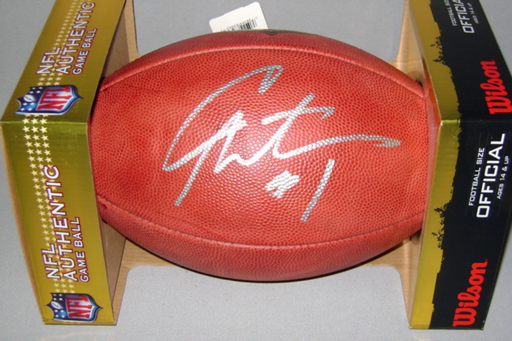 PANTHERS - CAM NEWTON SIGNED AUTHENTIC FOOTBALL