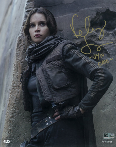 Felicity Jones as Jyn Erso Autographed Inscribed in Gold Ink