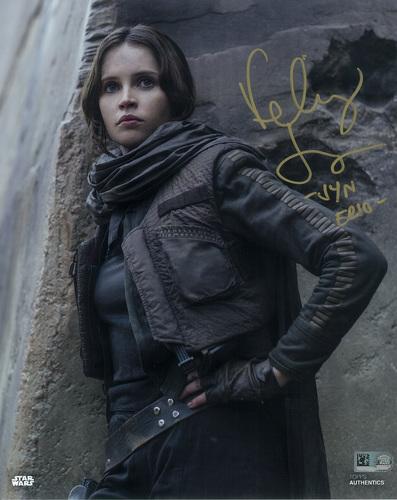 Felicity Jones as Jyn Erso Autographed 8x10 Inscribed
