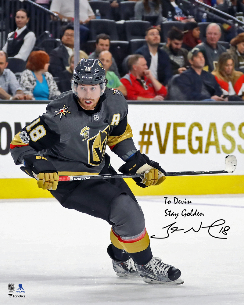 James Neal Vegas Golden Knights Autographed Personalized 8