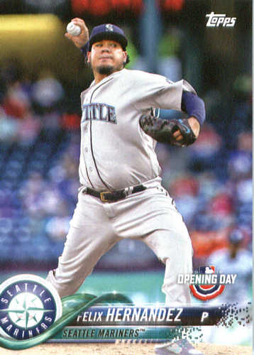 Photo of 2018 Topps Opening Day #93 Felix Hernandez