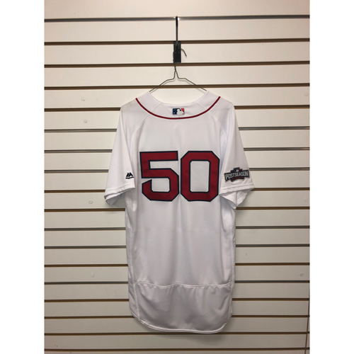 Photo of Mookie Betts Team-Issued 2016 Home Jersey