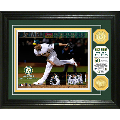 Photo of Mike Fiers No Hitter Bronze Coin Photo Mint