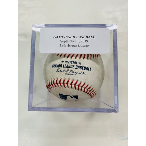 Photo of Game-Used Baseball: Luis Arraez Double