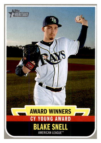 Photo of 2019 Topps Heritage Award Winners #AW3 Blake Snell