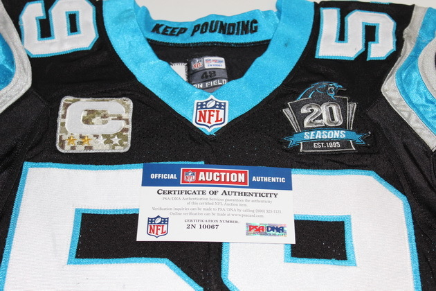 the best attitude 5a54f 77dcb NFL Auction | LUKE KUECHLY GAME WORN PANTHERS JERSEY ...
