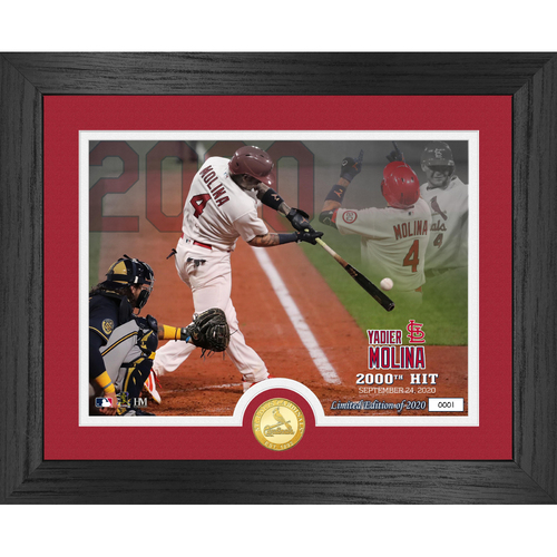 Photo of Serial #1! Yadier Molina 2000th Hit Bronze Coin Photo Mint