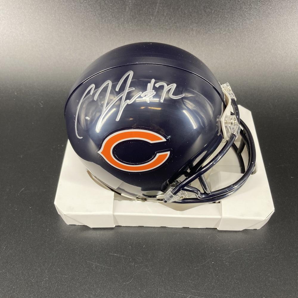 Bears - Charles Leno Jr. Signed Mini Helmet