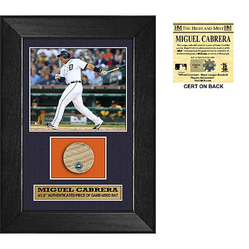 Detroit Tigers Miguel Cabrera Game-Used Bat Swatch Plaque