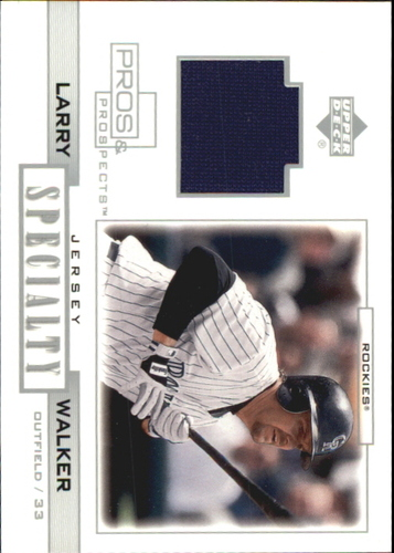 Photo of 2001 Upper Deck Pros and Prospects Specialty Game Jersey #SLW Larry Walker