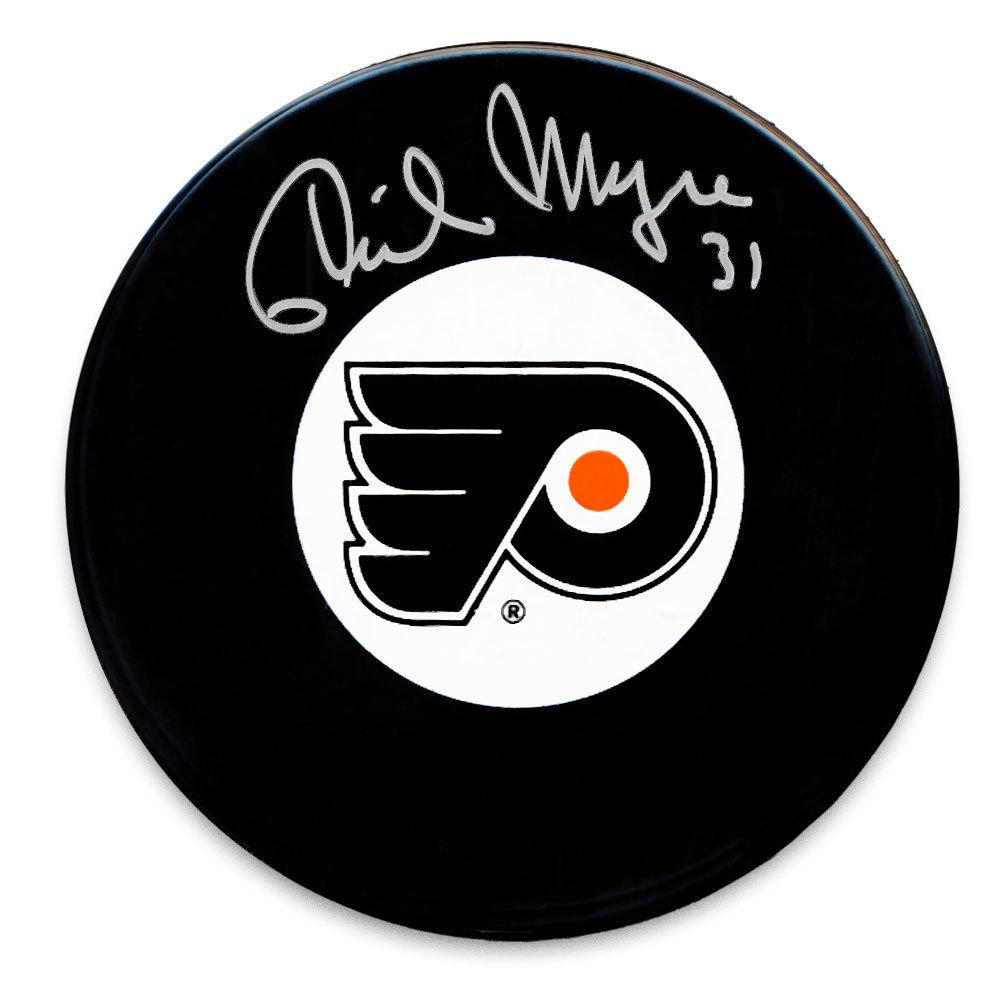 Phil Myre Philadelphia Flyers Autographed Puck