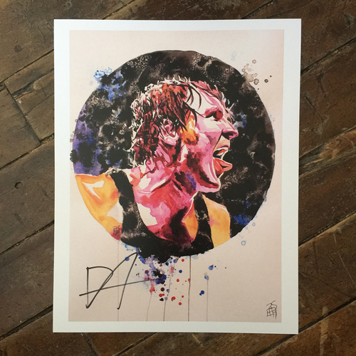 Dean Ambrose SIGNED 11 x 14 Rob Schamberger Print