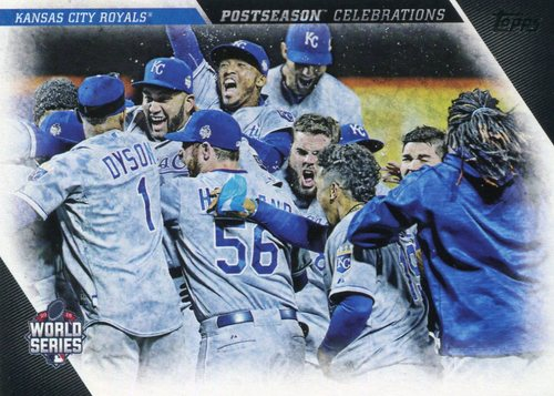 Photo of 2017 Topps Update Postseason Celebration #PC15 Kansas City Royals