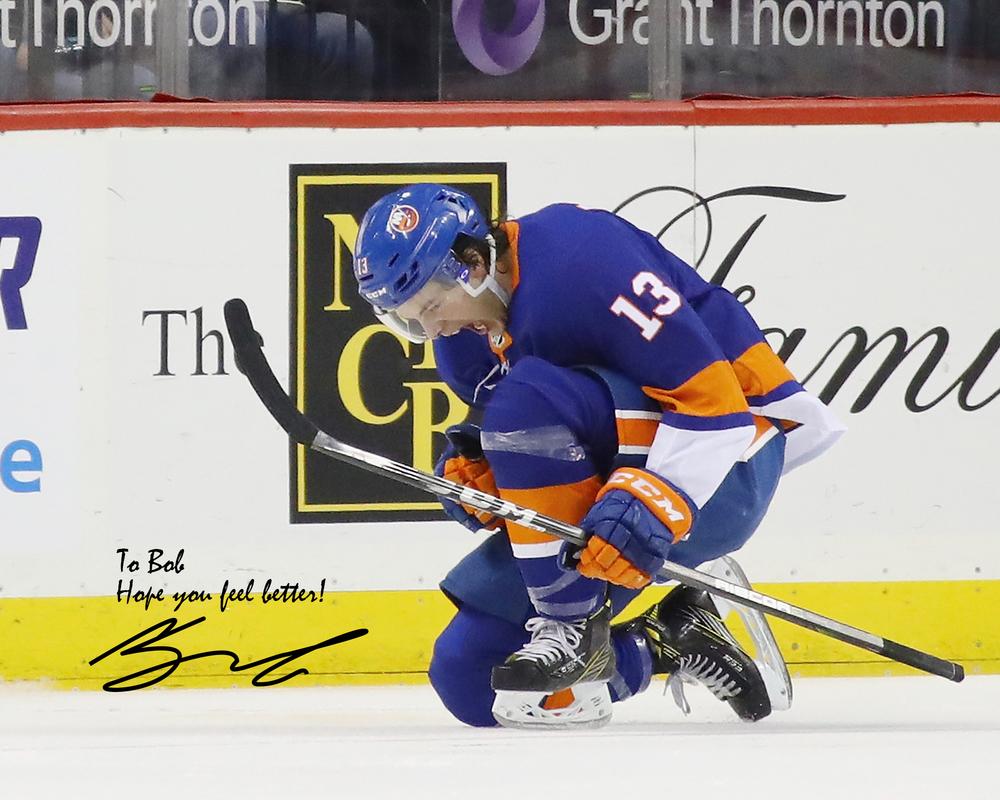 Matthew Barzal New York Islanders Autographed Personalized 8