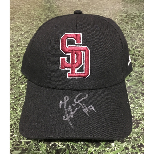 Photo of Manny Pina Autographed, Game Worn Stoneman Douglas Eagles Cap