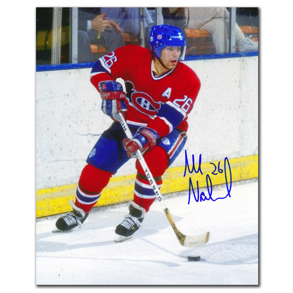 Mats Naslund Montreal Canadiens ACTION Autographed 8x10