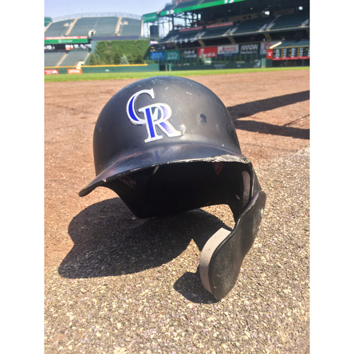 Photo of Colorado Rockies Game-Used Batting Helmet - Chris Iannetta