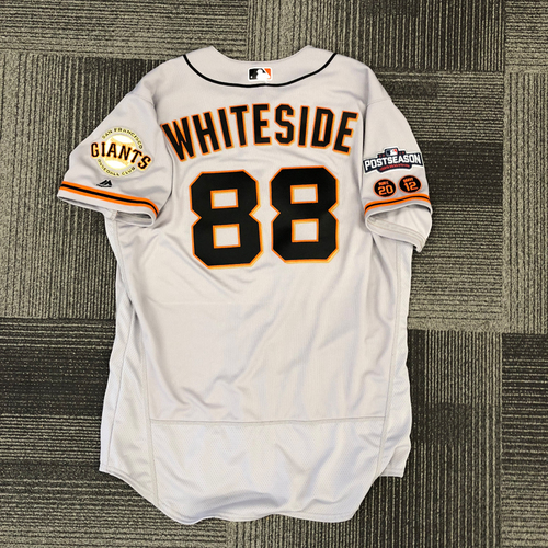 Photo of 2016 Postseason Game Used Jersey - Used by #88 Eli Whiteside - Size 48