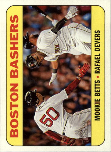 Photo of 2018 Topps Heritage Combo Cards #CC10 Rafael Devers/Mookie Betts